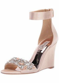 Badgley Mischka Women's Lauren Wedge Sandal   M US