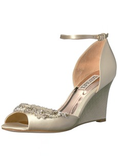 Badgley Mischka Women's Malorie Wedge Sandal  8.5 M US