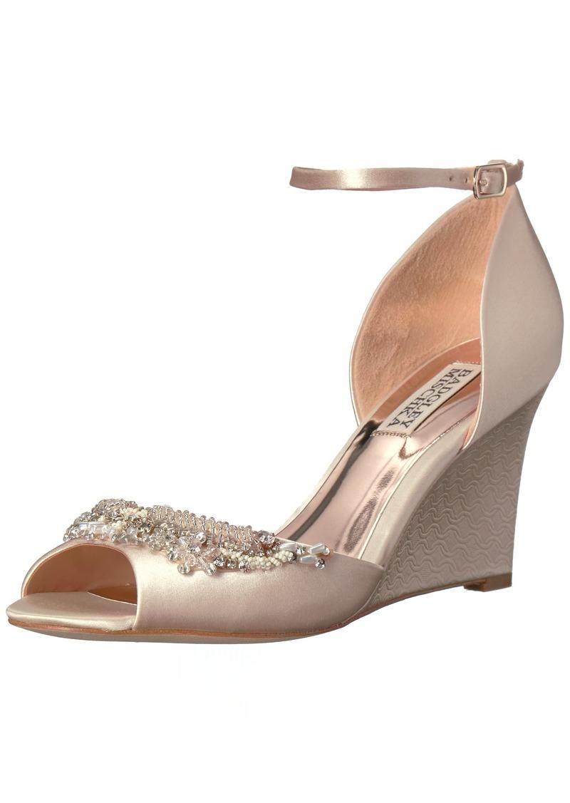 Badgley Mischka Women's Malorie Wedge Sandal   M US