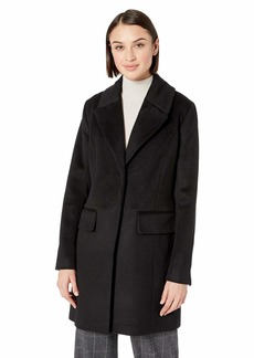 Badgley Mischka Women's Mid Length Wool Coat with Notch Collars