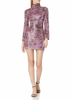 Badgley Mischka Women's Mini Cocktail Long Sleeve