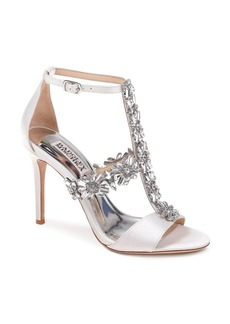 Badgley Mischka Women's Munroe Embellished Satin High Heel Sandals