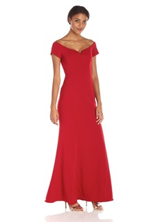 Badgley Mischka Women's Off The Shoulder Gown