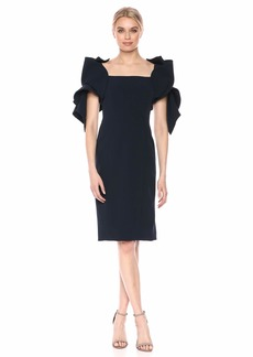 Badgley Mischka Women's Origami Sleeve Dress