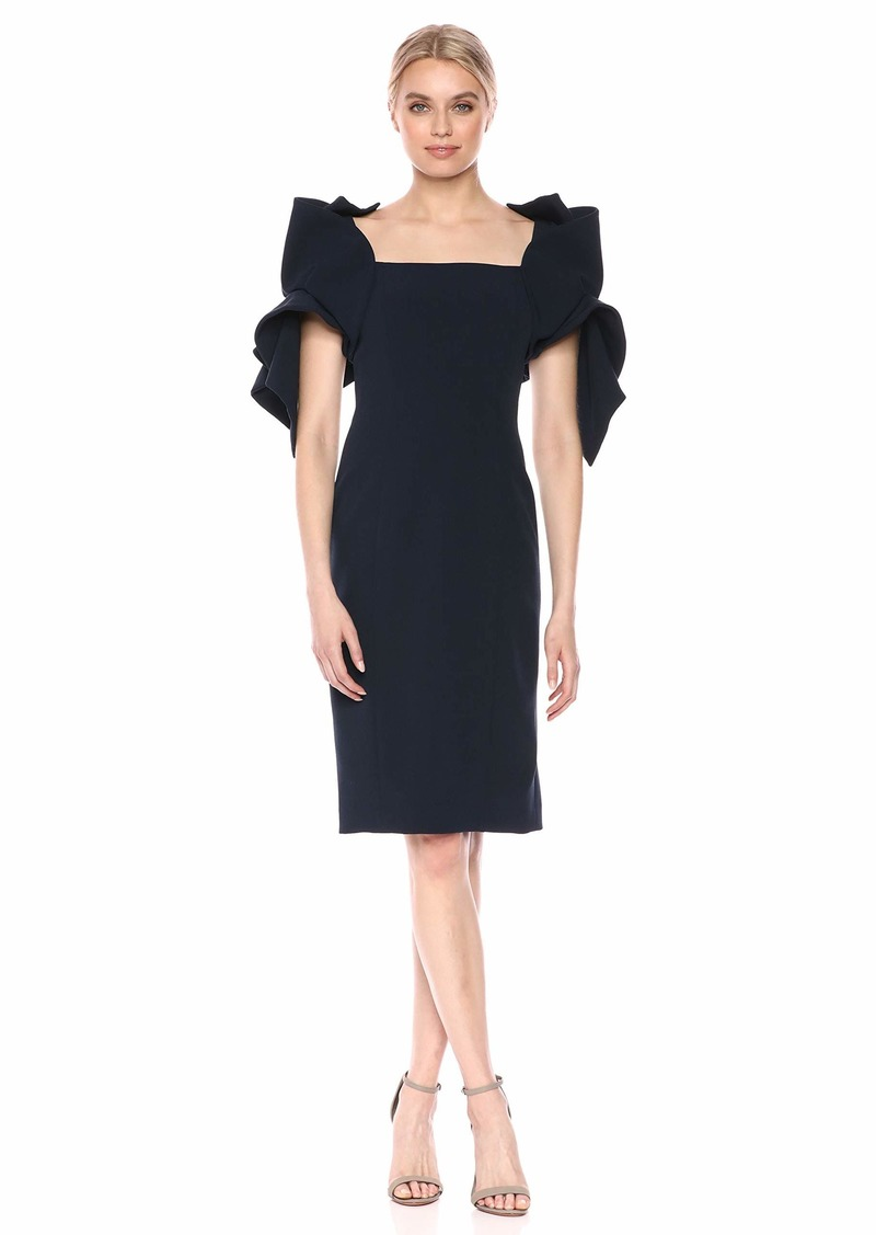 Badgley Mischka Women's Origami Sleeve Dress