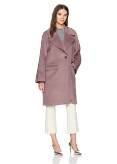Badgley Mischka Women's Oversized Wool Cocoon Coat  L