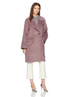 Badgley Mischka Women's Oversized Wool Cocoon Coat  S