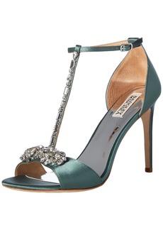 Badgley Mischka Women's Pascale Heeled Sandal sage Satin  M US