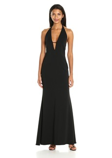 Badgley Mischka Women's Plunging V-Neck Gown