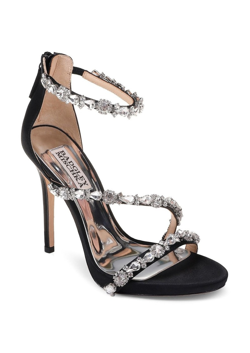 Badgley Mischka Women's Quest Embellished Satin High-Heel Sandals