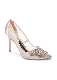 Badgley Mischka Women's Quintana Glitter & Mesh High-Heel Pumps