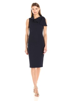 Badgley Mischka Women's Sheath Dress with Tie