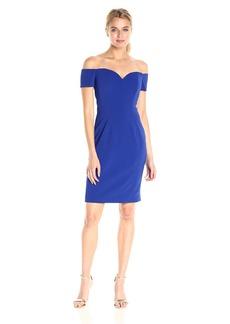 Badgley Mischka Women's Short Off The Shoulder Dress