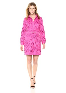 Badgley Mischka Women's Short Sleeve Lace Runway Dress
