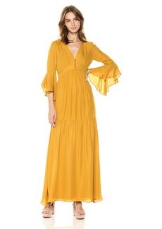 Badgley Mischka Women's Solid Maxi Dress