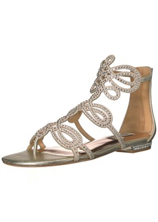Badgley Mischka Women's Tempe Flat Sandal   M US