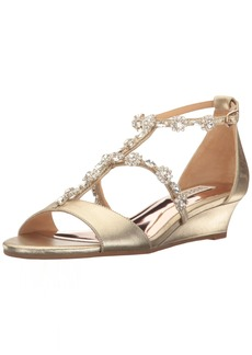 Badgley Mischka Women's Terry Ii Wedge Sandal  6.5 M US
