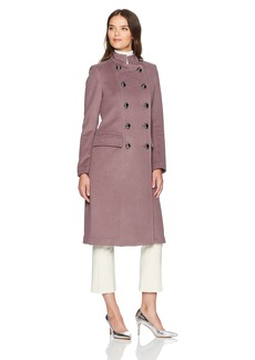 Badgley Mischka Women's Trinity Military Inspired Wool Coat with Embroidery Detail  S
