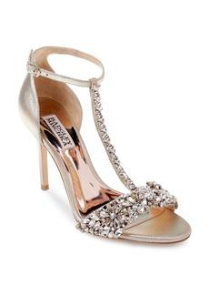 Badgley Mischka Women's Veil II Open-Toe T-Strap Leather High-Heel Sandals