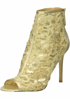 Badgley Mischka Women's Verona Ankle Boot Ivory lace  M US
