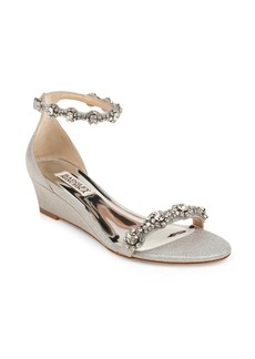 Badgley Mischka Zion Embellished Ankle Strap Sandal (Women)