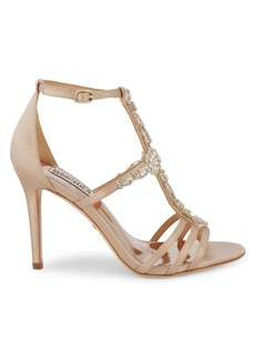 Badgley Mischka Bejeweled T-Strap Sandals