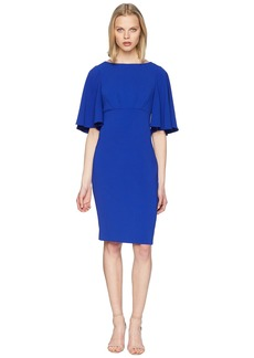Badgley Mischka Bell Sleeve Day to Evening Dress in Stretch Crepe