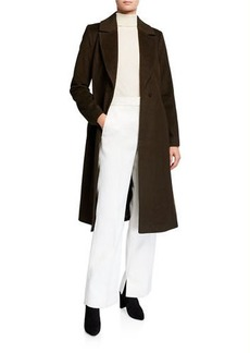 Badgley Mischka Belted Wool-Blend Coat