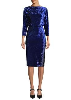 Badgley Mischka Blouson Dress in Ombre Velvet