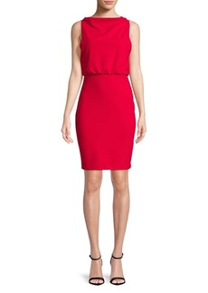 Badgley Mischka Boatneck Sheath Dress