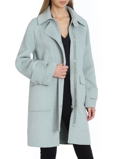 Badgley Mischka Breanne Collared Wool Anorak Coat