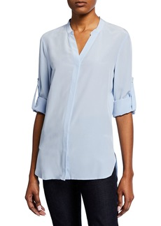 Badgley Mischka Button-Down Blouse