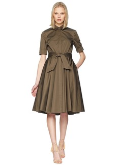 Badgley Mischka Day to Evening Shirtdress w/ Circle Skirt