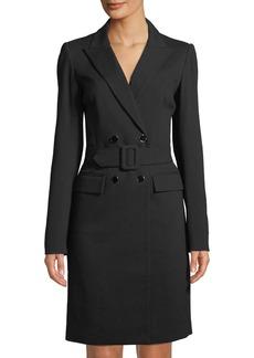 Badgley Mischka Double-Breasted Jacket Dress