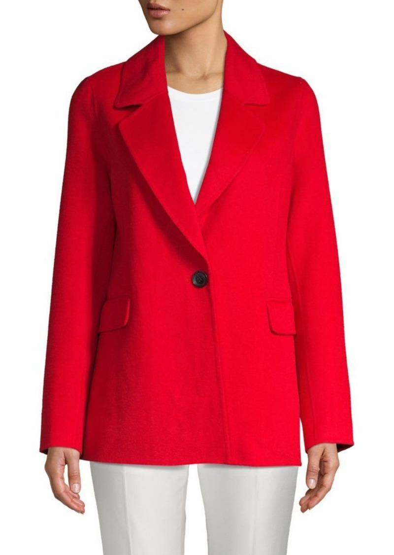 Badgley Mischka Double-Faced Wool-Blend Blazer