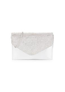 Badgley Mischka Embellished Metallic Convertible Envelope Clutch