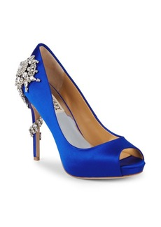 Badgley Mischka Embellished Peep-Toe Pumps