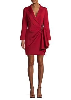 Badgley Mischka Embellished Wrap Dress