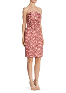 Badgley Mischka Embroidered Bandeau Dress