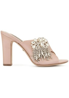 Badgley Mischka Farrah embellished mules