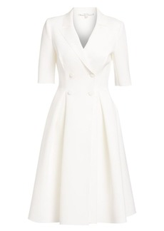 Badgley Mischka Flared Elbow Sleeve Suit Dress