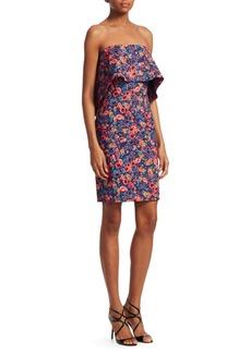 Badgley Mischka Floral Popover Dress