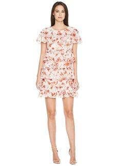 Badgley Mischka Floral Print Runway Dress