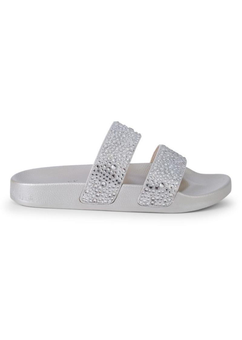 Badgley Mischka Forest Crystal Embellished Flat Sandals