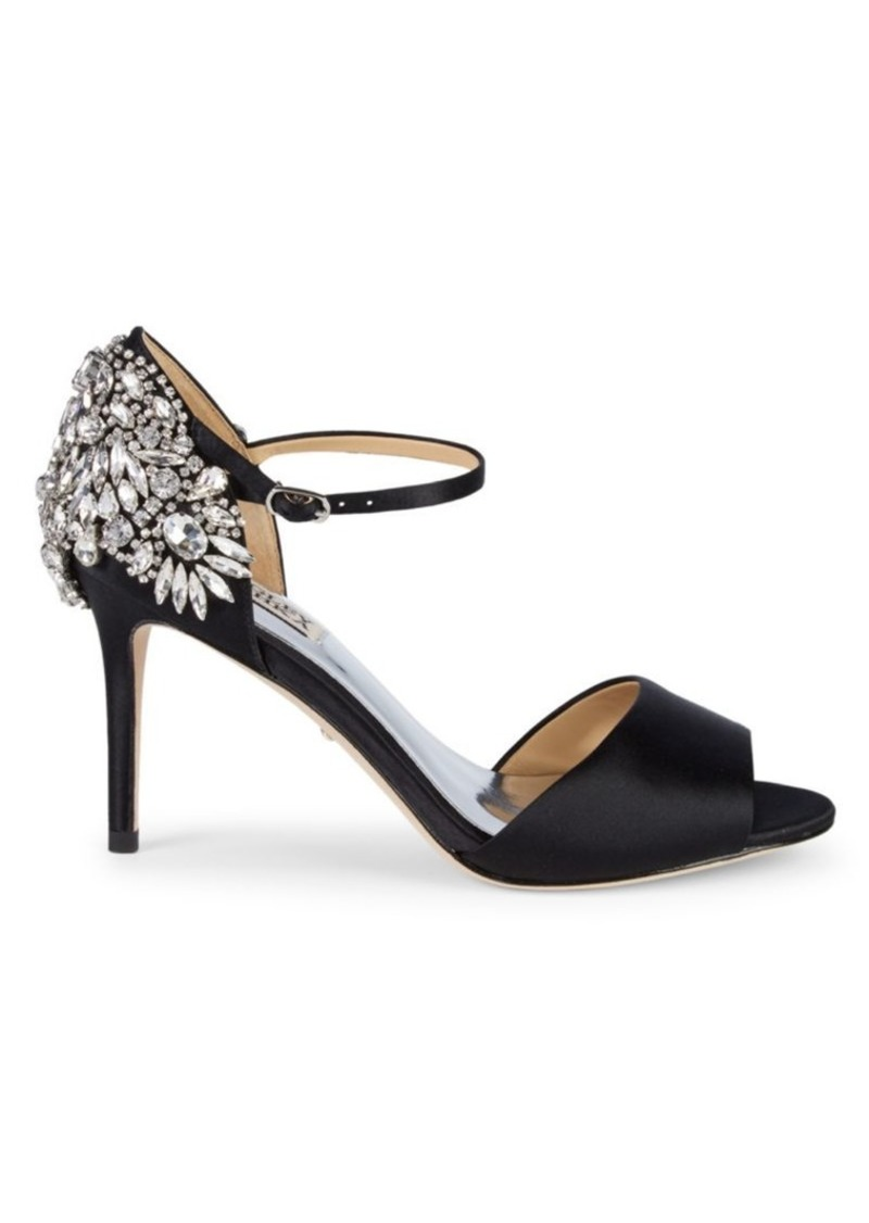 Badgley Mischka Harbor Embellished Ankle-Strap Sandals