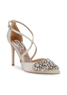 Badgley Mischka Harlene Embellished Satin Pumps