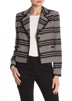 Badgley Mischka Jacquard Design Blazer