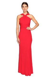 Badgley Mischka Jersey Pull Through Gown
