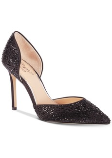 Jewel Badgley Mischka Alexandra Embelished Pointed-Toe Evening Pumps Women's Shoes