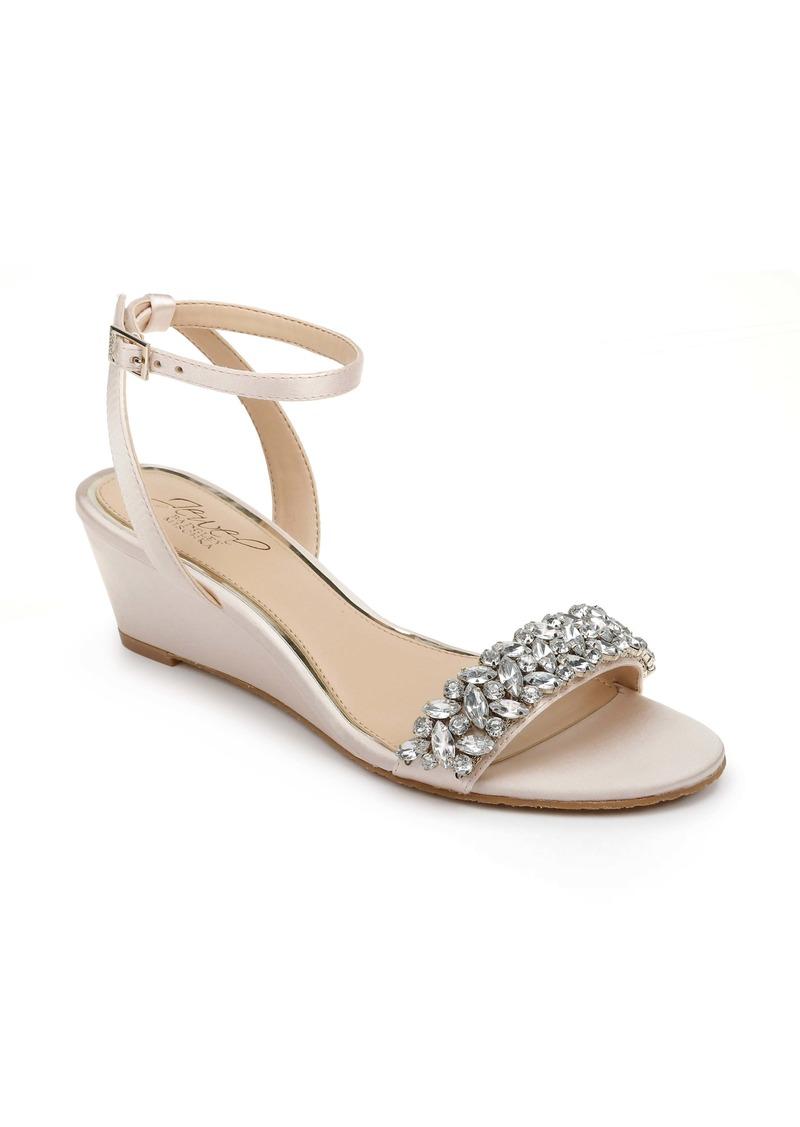 Jewel Badgley Mischka Bellevue Ankle Strap Wedge Sandal (Women)